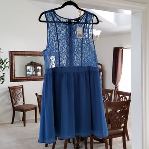 Sheer Top Lace Dress